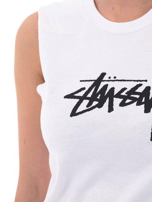 Stüssy T-Shirt Stock Raw Muscle weiß