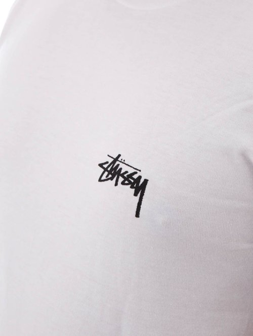 Stüssy T-Shirt Fire on Babylon weiß