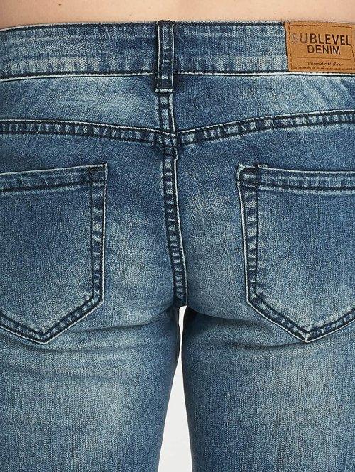 Sublevel Skinny Jeans Stripe blau