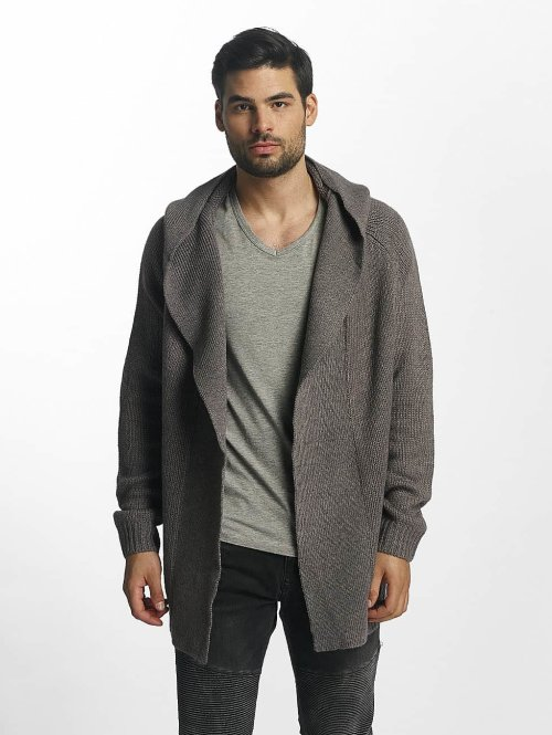 Sublevel Strickjacke Hooded Cardigan grau