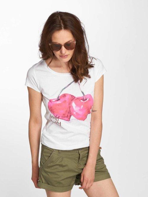Sublevel T-Shirt Cherry weiß