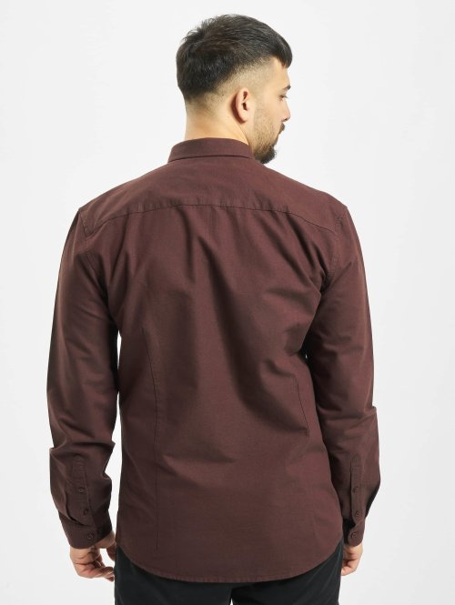 Suit Hemd Oxford-BD-Q4190 rot