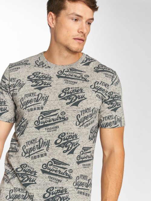Superdry Camiseta Triple Logo gris