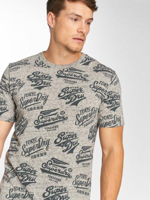 Superdry T-shirt Triple Logo grå
