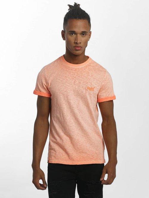 Superdry T-Shirt Orange Labl Low Roller orange