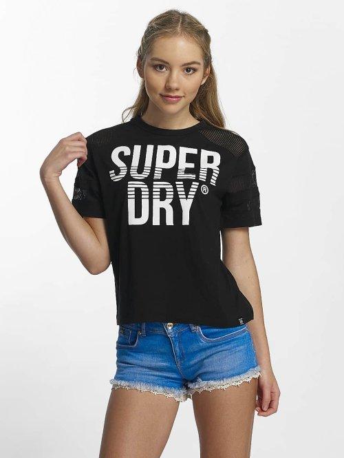 Superdry t-shirt Pacific Pieced zwart