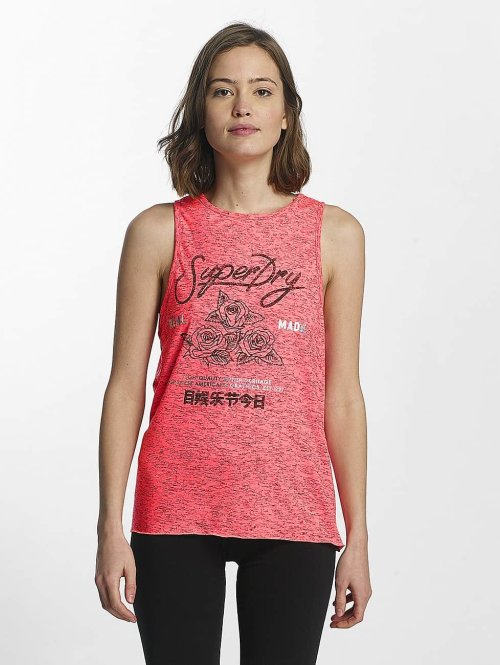 Superdry Tank Tops Skater Knot pink
