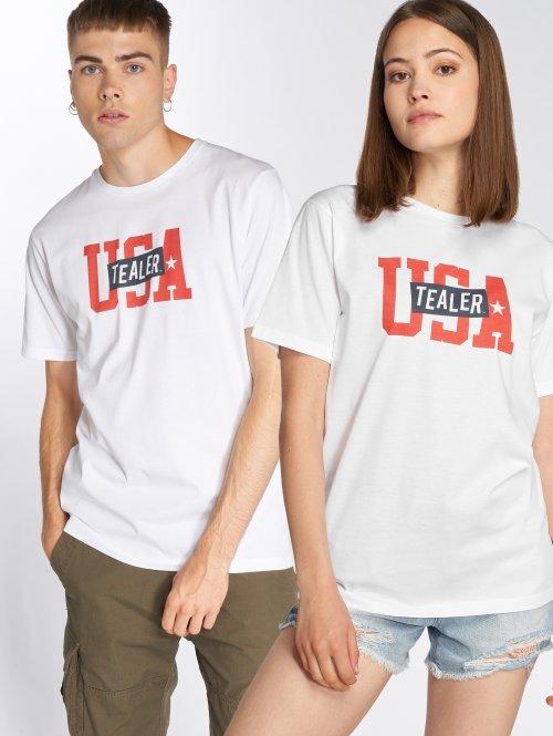Tealer T-shirt USA Logo bianco