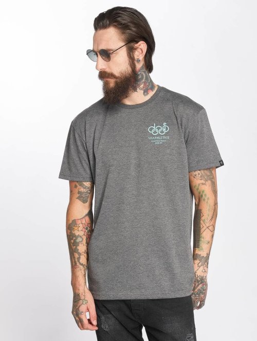 The Dudes T-Shirt Dolphin grau