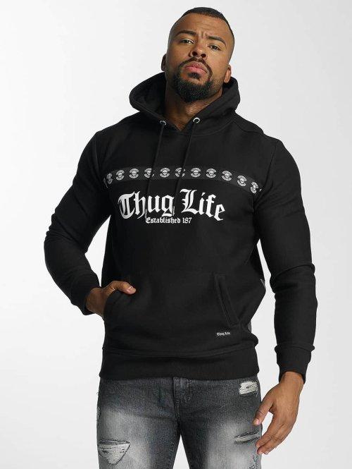 Thug Life Hoody Burn schwarz