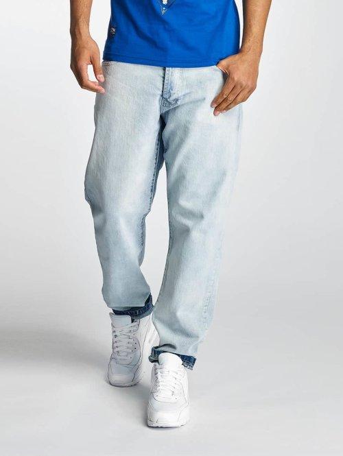 Thug Life Karottenjeans Washed blau