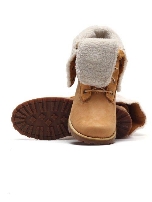Timberland Sneaker Authentics 6Waterproof Faux Shearling braun