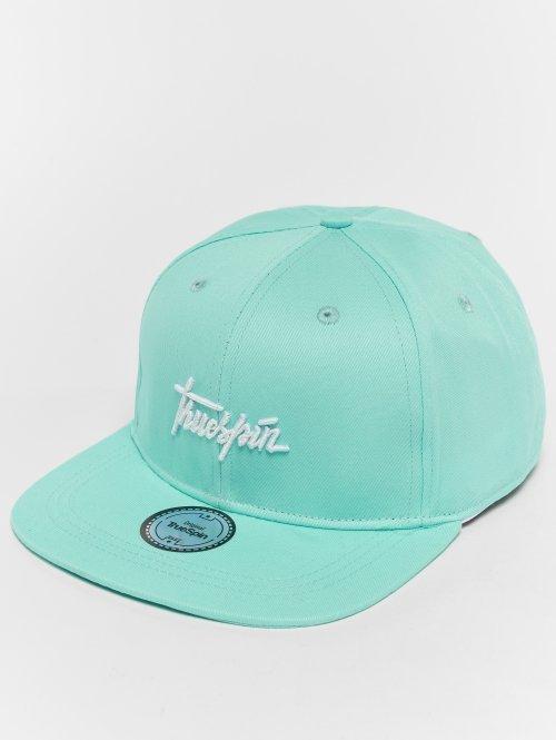 TrueSpin Snapback Caps Script niebieski