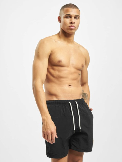 Urban Classics Badebukser Block Swim sort