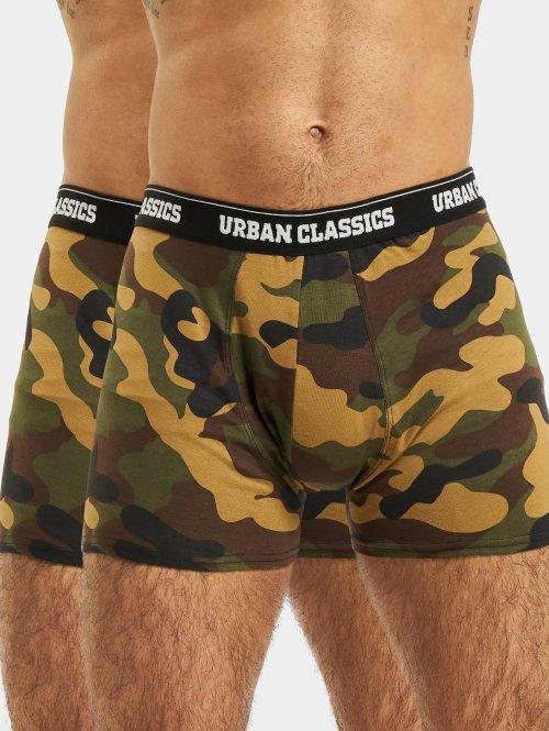 Urban Classics Bokserki 2-Pack Camo moro