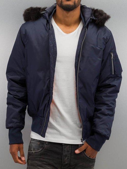 Urban Classics Bomberjacke Hooded Basic blau