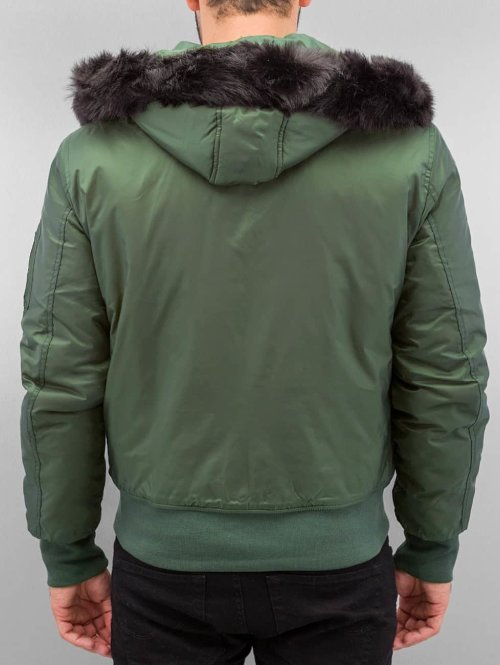 Urban Classics Bomberjacke Hooded Basic olive