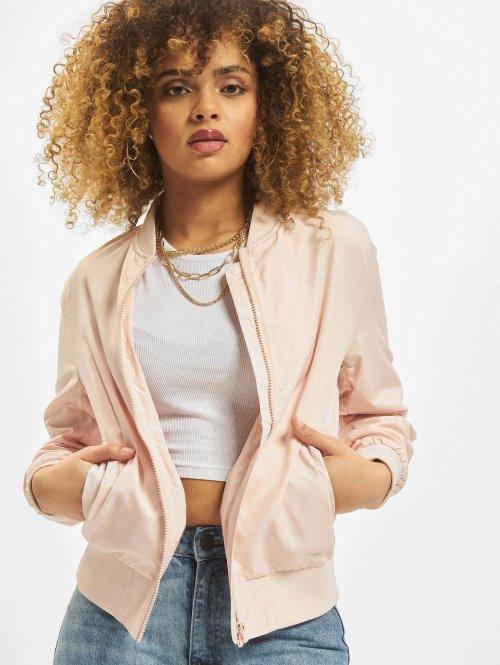 Urban Classics Bomberjacke Ladies Light rosa