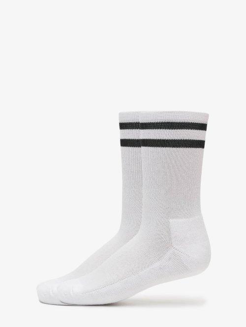 Urban Classics Calcetines 2-Pack Stripe Sport blanco