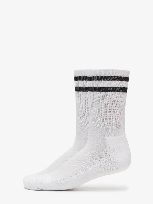 Urban Classics Calzino 2-Pack Stripe Sport bianco