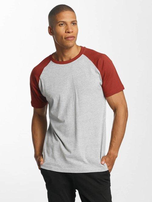 Urban Classics Camiseta Raglan Contrast gris