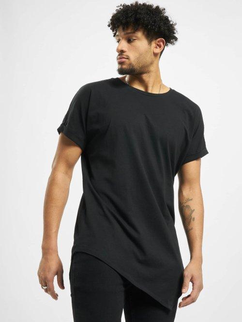 Urban Classics Camiseta Asymetric Long negro