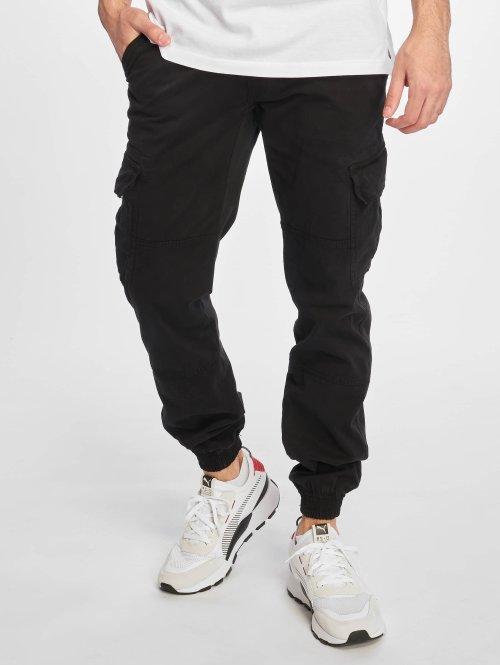 Urban Classics Cargo pants Washed Cargo Twill Jogging svart