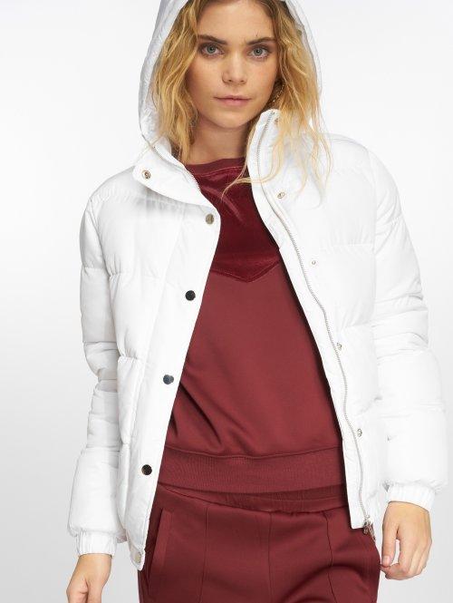 Urban Classics Gewatteerde jassen Hooded Puffer wit