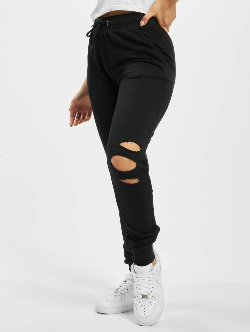 Urban Classics Jogging Cutted Terry noir