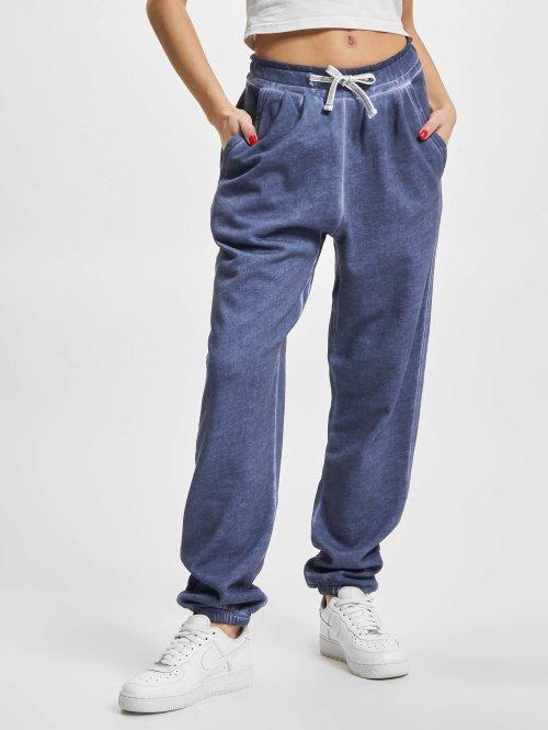 Urban Classics Jogginghose Ladies Spray Dye blau