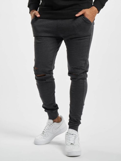 Urban Classics Jogginghose Cutted grau