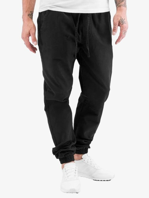 Urban Classics Jogginghose Washed Canvas schwarz