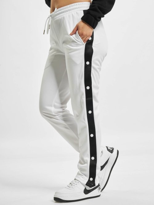 Urban Classics Jogginghose Button Up weiß