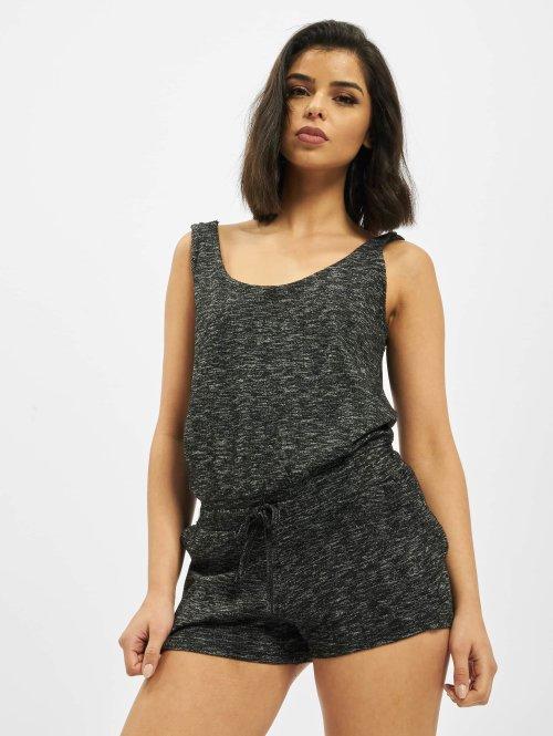 Urban Classics jumpsuit Ladies Melange Hot grijs
