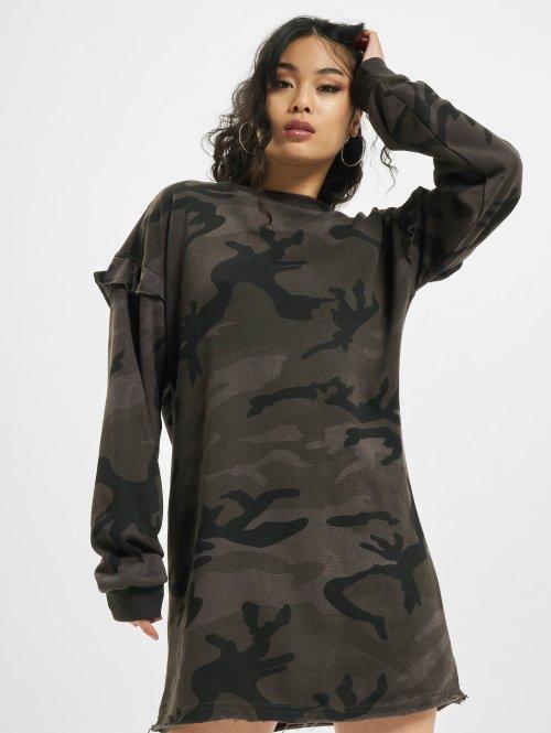 Urban Classics Kjoler Camo Volant camouflage