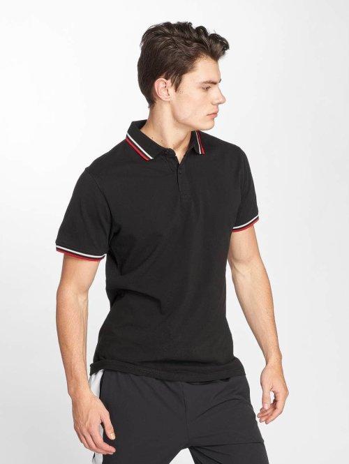 Urban Classics Poloshirt Double Stripe schwarz