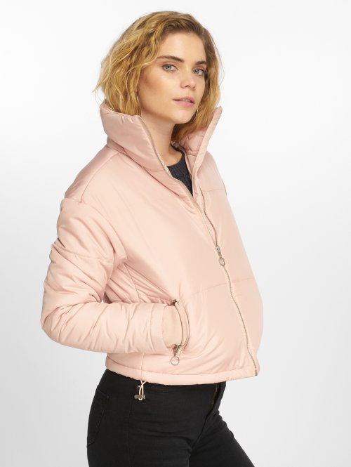 Urban Classics Puffer Jacket Oversized High Neck rosa