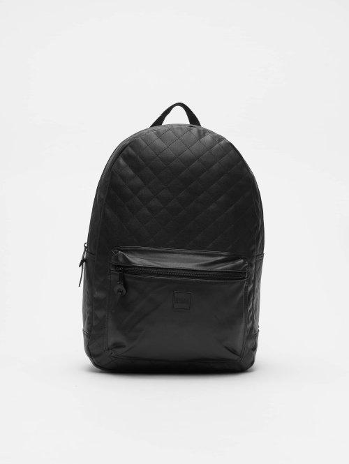 Urban Classics Reput Diamond Quilt Leather Imitation musta