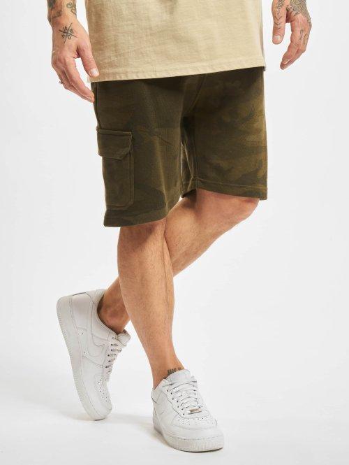 Urban Classics Shorts Camo Terry Cargo kamouflage