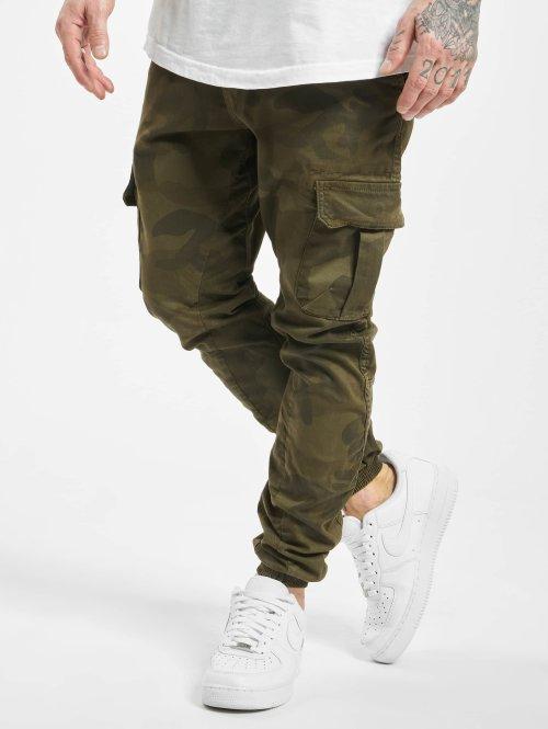 Urban Classics Spodnie Chino/Cargo Camo oliwkowy
