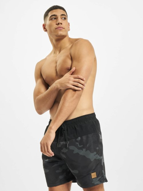 Urban Classics Swim shorts Block black