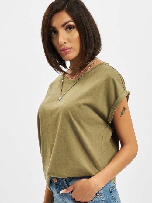 Urban Classics T-paidat Extended Shoulder oliivi