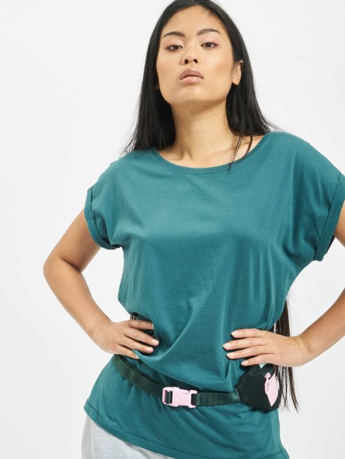 Urban Classics T-paidat Extended Shoulder turkoosi