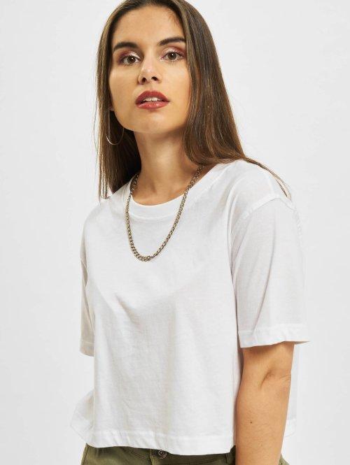 Urban Classics T-paidat Ladies Oversized Short valkoinen
