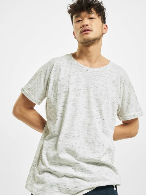 Urban Classics T-paidat Long Space Dye Turn Up valkoinen