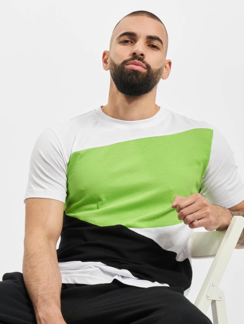 Urban Classics T-shirt Zig Zag bianco