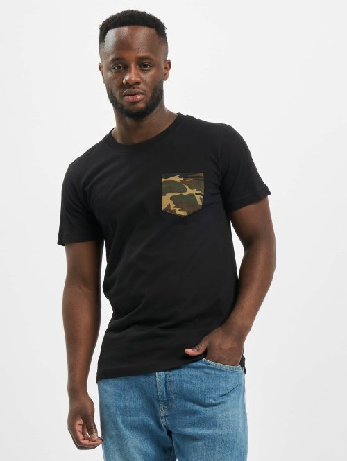 Urban Classics T-Shirt Camo Pocket black
