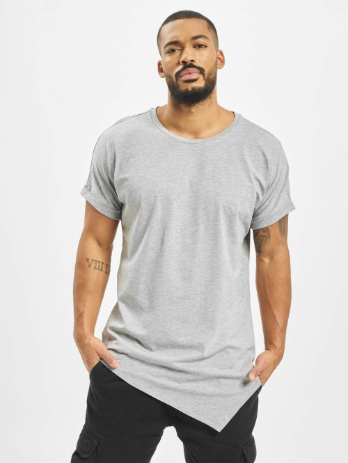Urban Classics T-shirt Asymetric Long grå