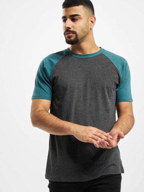 Urban Classics T-shirt Raglan Contrast grigio