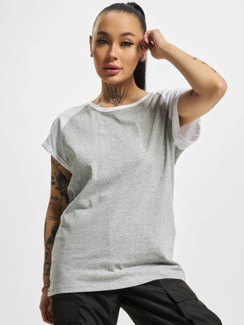 Urban Classics t-shirt Contrast grijs